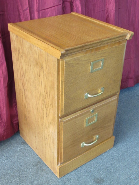 lot detail nice two drawer oak wood file cabinet with brass rh anyandallauctions com used oak two drawer file cabinet Real Oak File Cabinet