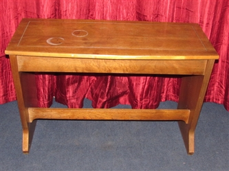 PIANO BENCH WITH STORAGE-ALSO WORKS AROUND THE DINING ROOM TABLE OR UNDER A WINDOW