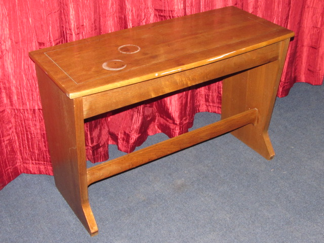 Lot Detail PIANO BENCH WITH STORAGE ALSO WORKS AROUND THE DINING ROOM TABLE