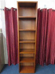 SUPER TALL, VERY NICE BOOKSHELF WITH ADJUSTABLE SHELVES