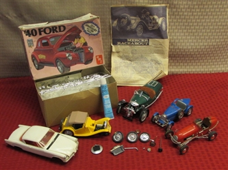VINTAGE AMT 1/25 SCALE 40 FORD COUPE MODEL PLUS 5 ASSEMBLED PROJECT MODELS