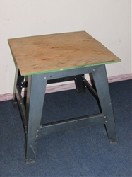 STURDY STEEL WORK STAND WITH PLYWOOD TOP - NICE MOUNT FOR POWER TOOLS