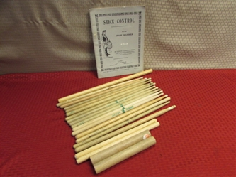 MAKE SOME NOISE! DRUMS & PERCUSSION STICKS PLUS INSTRUCTION BOOKS