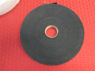 "TWO LARGE ROLLS OF ELASTIC 3/4"" & 1 3/4"" THICK"