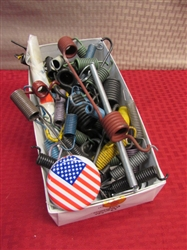 BOX O SPRINGS - DOZENS OF SPRINGS IN ASSORTED SIZES