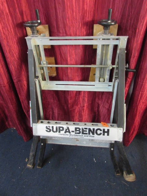 Lot Detail Supa Bench Portable Work Center Amp Vise With