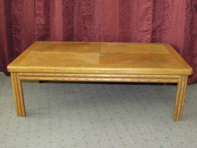 Lot Detail Attractive Very Sturdy Coffee Table Room For All Your Coffee Table Books