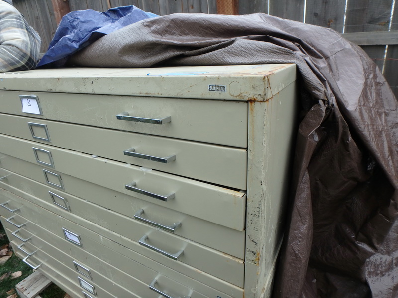 Lot detail 5 drawer safco mapblueprint flat file cabinet 5 drawer safco mapblueprint flat file cabinet malvernweather