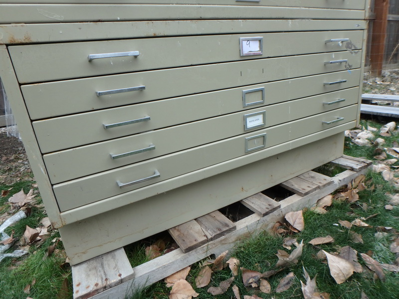 Lot detail 5 drawer safco mapblueprint flat file cabinet w 5 drawer safco mapblueprint flat file cabinet wremovable base malvernweather Gallery