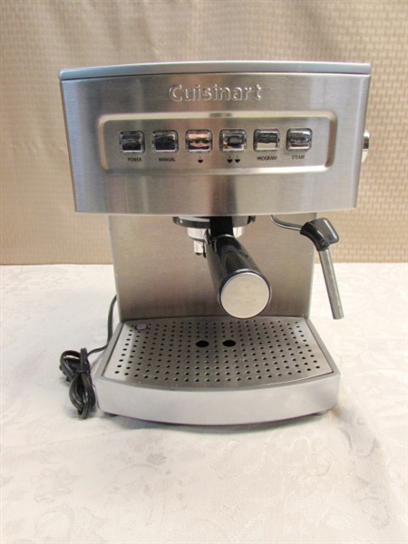 Cuisinart Coffee Maker Instructions For Cleaning : Lot Detail - CUISINART PROGRAMMABLE ESPRESSO MAKER