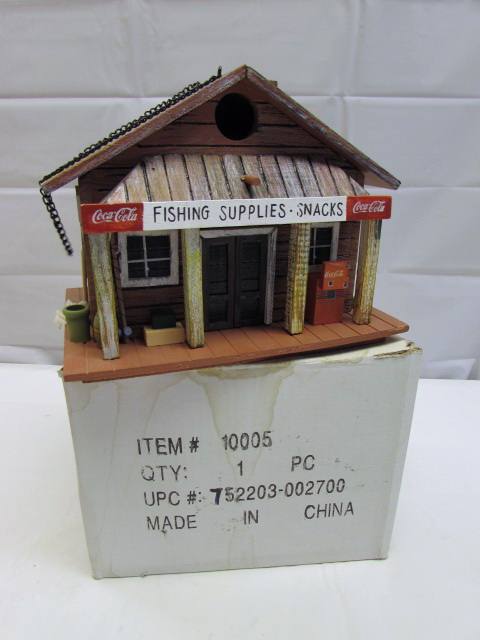 Fine Lot Detail Coca Cola Themed Tackle Store Birdhouse Home Interior And Landscaping Palasignezvosmurscom