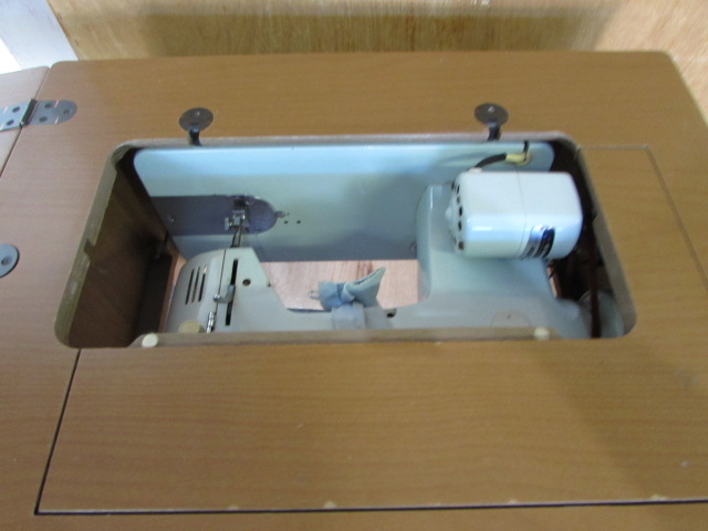 Lot Detail BROTHER SEWING MACHINE IN CABINET Amazing Brother Sewing Machine Table
