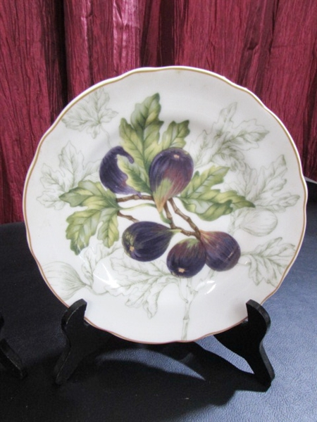 ... DECORATIVE FRUIT PLATES DECORATIVE FRUIT PLATES & Lot Detail - DECORATIVE FRUIT PLATES