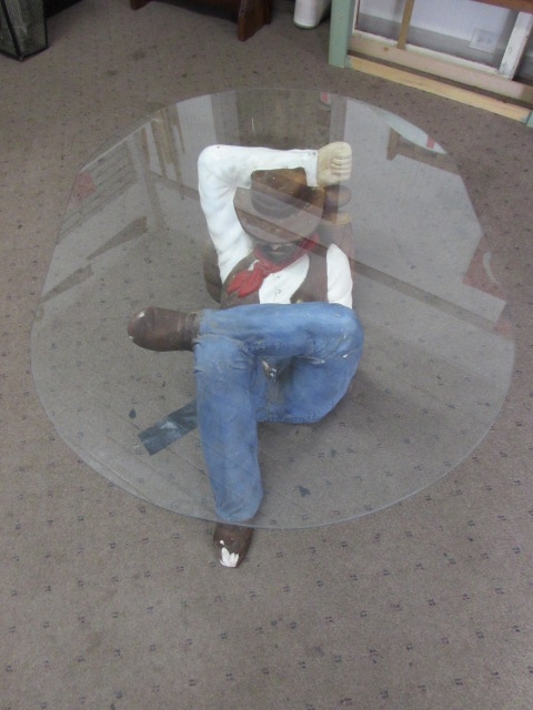 Awesome SLEEPING COWBOY COFFEE TABLE ...