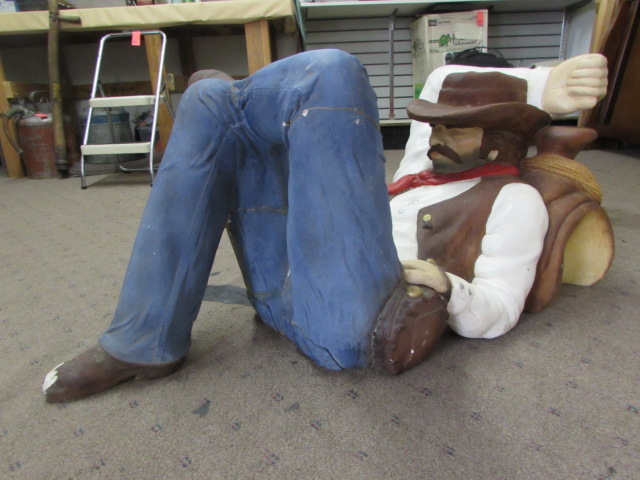 Lot Detail Sleeping Cowboy Coffee Table