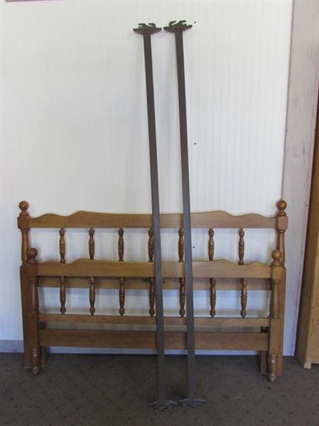 lot detail full size wood bed frame. Black Bedroom Furniture Sets. Home Design Ideas