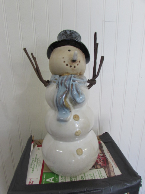 Lot Detail Christmas Tree Ceramic Snowman
