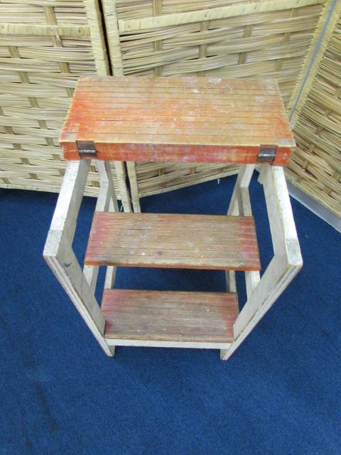 Vintage Step Stool Seat Combo