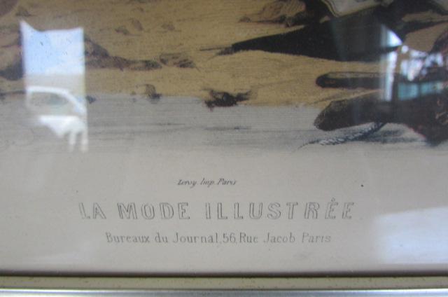 Lot detail vintage antique paris fashion prints