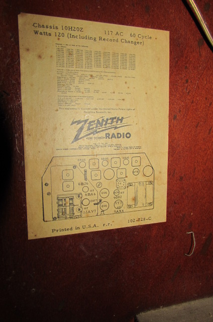 Lot Detail - VINTAGE ZENITH RADIO PHONOGRAPH CONSOLE