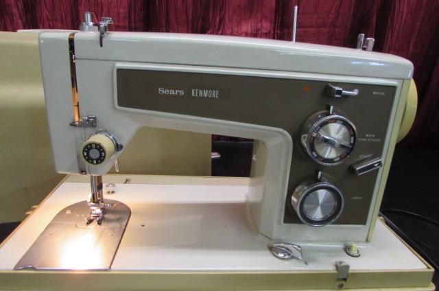 Lot Detail SEARS KENMORE SEWING MACHINE Custom Sears Kenmore Sewing Machine