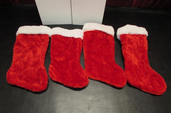 CHRISTMAS STOCKINGS, HOLDERS, TABLECLOTH & MORE