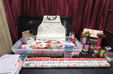 GIFT WRAP BAGS, RIBBON, TAPE AND MORE