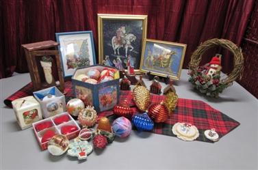 VICTORIAN ORNAMENT SET, CROSS STITCH AND MORE