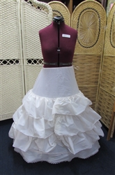 DRESS FORM AND HOOP SKIRT