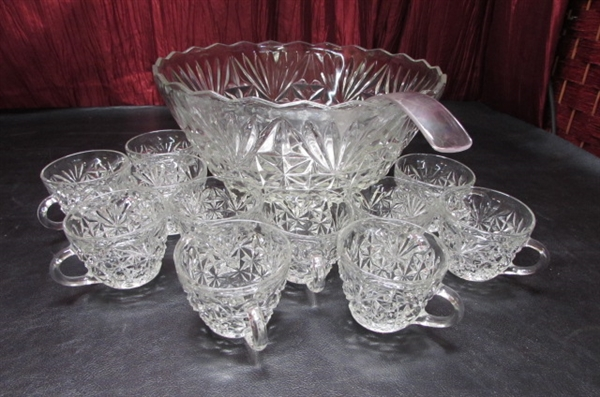 GLASS PUNCH BOWLS AND PLATTERS