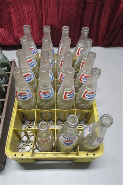 VINTAGE PEPSI AND COKE BOTTLES