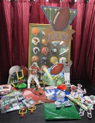 VINTAGE NFL UNITED AIRLINES POSTER & SUPER BOWL PARTY SUPPLIES