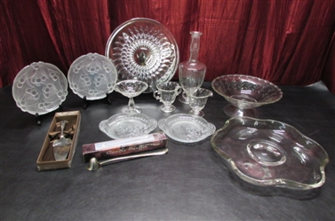 GLASS PLATTERS AND SERVING SET