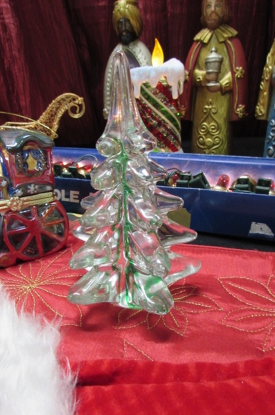 FIBER OPTIC TREE, TINY ORNAMENTS & MORE