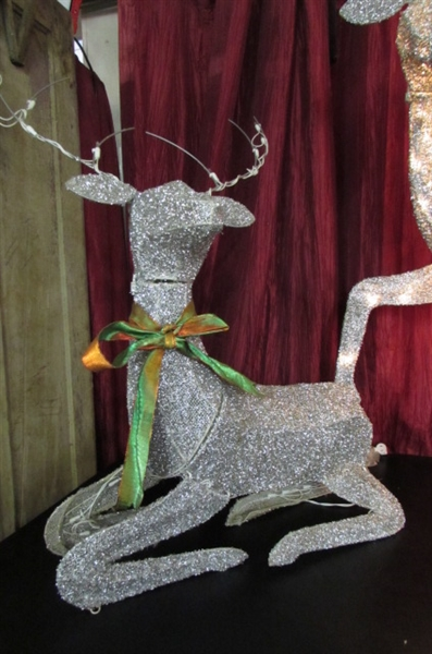 TWO BEADED LIGHTED DEER