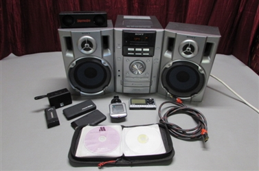 SONY CD/TAPE PLAYER, SIRIUS SATELLITE AND MORE