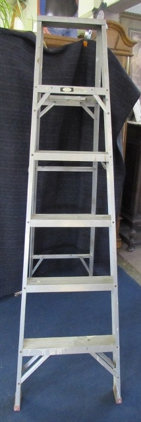 WERNER LADDER AND TWO SMALL TOOL BOXES