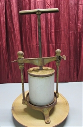ANTIQUE CHEESE or SAUSAGE PRESS