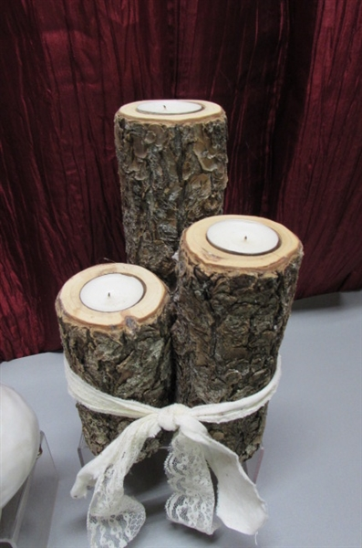 SHABBY CHIC DECOR & CANDLE HOLDERS