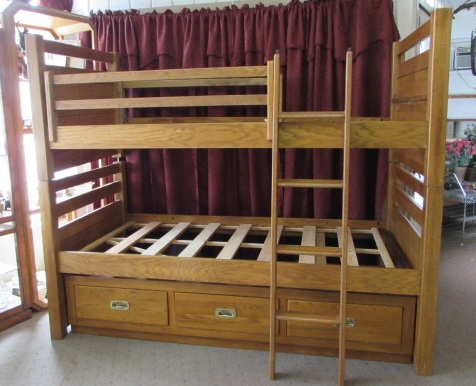 OAK BUNK BEDS