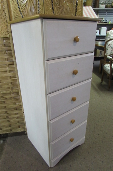 NARROW 5-DRAWER DRESSER