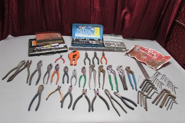 COMBINATION SOCKET SETS, PLIERS AND MORE