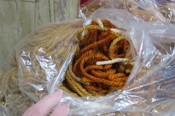 MACRAME, LATCH HOOK, HANDSPUN AND KNITTING YARN