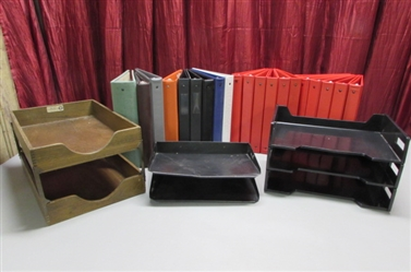 3-RING BINDERS & LETTER TRAYS