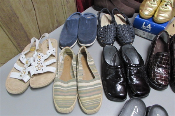OVER 2 DOZEN PAIRS OF WOMENS SHOES