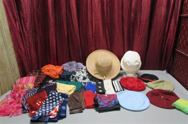 WOMENS ACCESSORIES - SCARVES, HATS & GLOVES