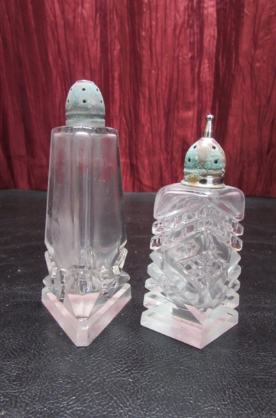 ELEGANT CANDY DISHES & SALT/PEPPER SHAKERS