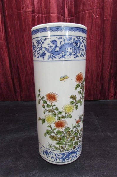 ASIAN TABLE LAMP & VASES