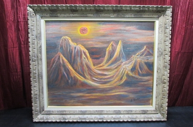 ABSTRACT LANDSCAPE OIL ON CANVAS