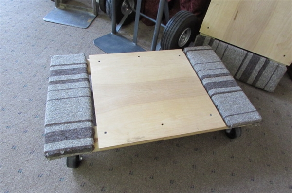 2 HAND TRUCKS & 2 FURNITURE DOLLIES
